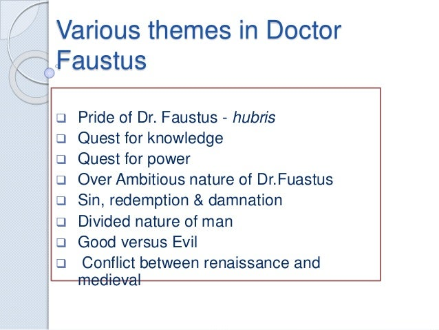 DOCTOR FAUSTUS THEMES DOWNLOAD