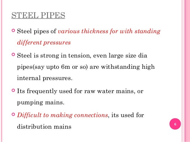 Various types of pressure pipes for What kind of pipes are used for plumbing