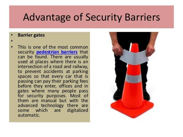 Various types of security barriers Slide 3