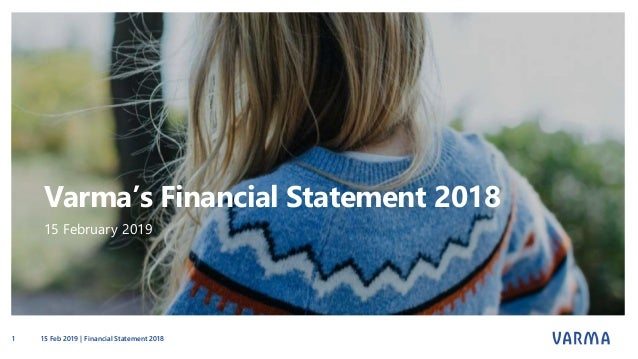 Varma's Financial Statement 2018 15 February 2019 15 Feb 2019 | Financial Statement 20181