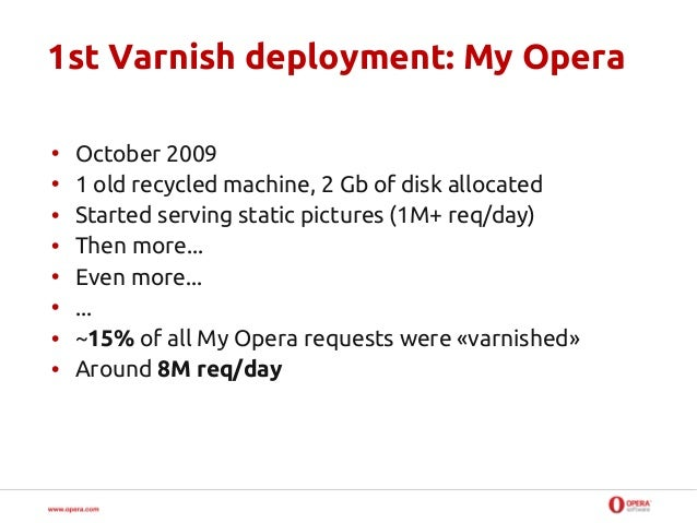 How we use and deploy Varnish at Opera Slide 2