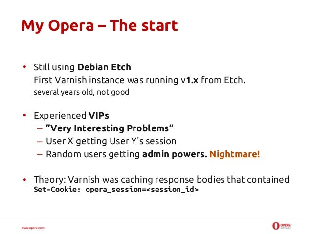 How we use and deploy Varnish at Opera Slide 3