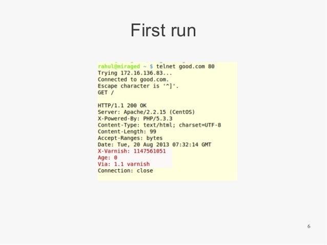 First run  6