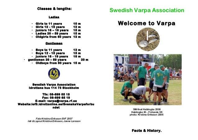 Classes & lengths: Ladies • Girls to 11 years 10 m • Girls 12 - 15 years 12 m • juniors 16 – 19 years 15 m • Ladies 20 – 5...