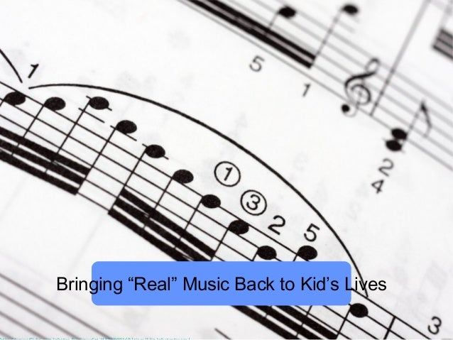 """Bringing """"Real"""" Music Back to Kid's Lives"""