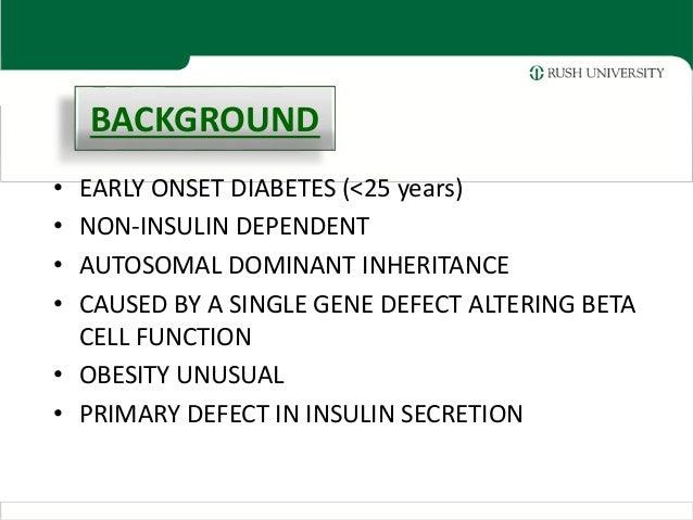Mature onset diabetes young