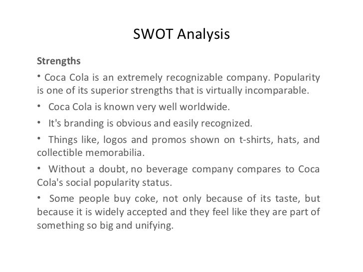 Coke coca cola varun daahal for Swot analysis for t shirt business