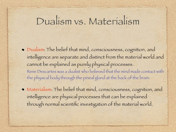 Research papers monism vs dualism in religion