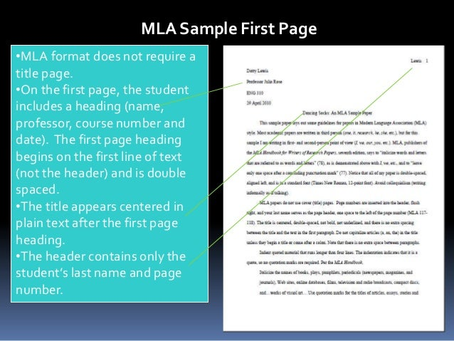 modern language association formats mla sample