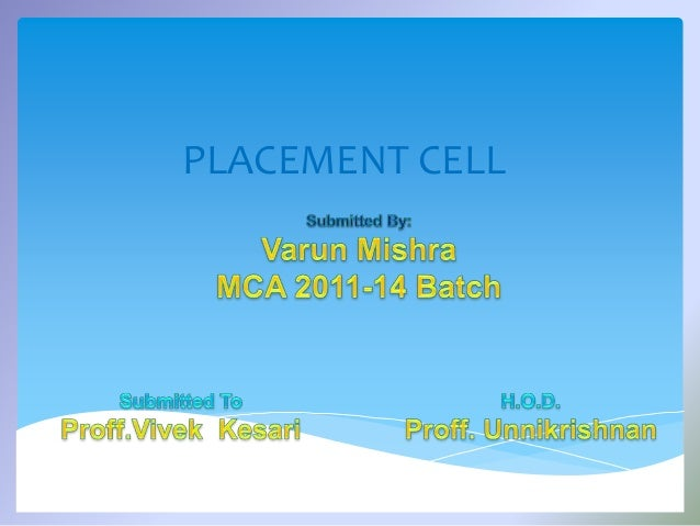 Placement cell project ccuart Choice Image