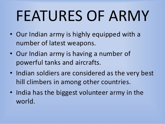 Inspiring motivational ppt of indian army 5 features of army toneelgroepblik Gallery
