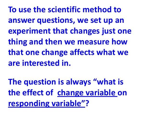 Sci 230 the scientific method
