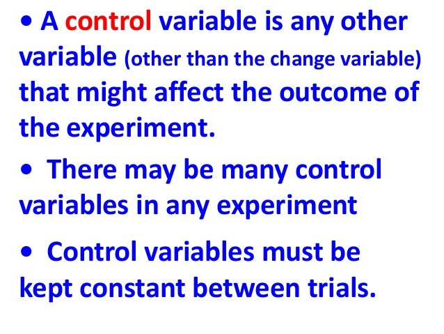Controlled variable definition