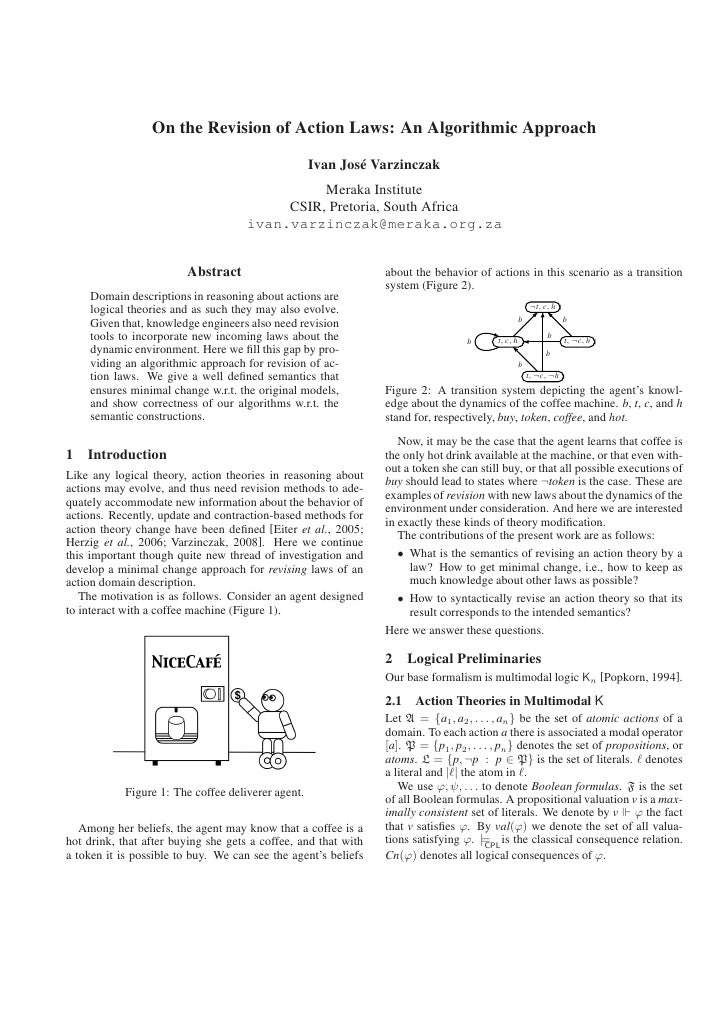 On the Revision of Action Laws: An Algorithmic Approach                                                      Ivan Jos´ Var...