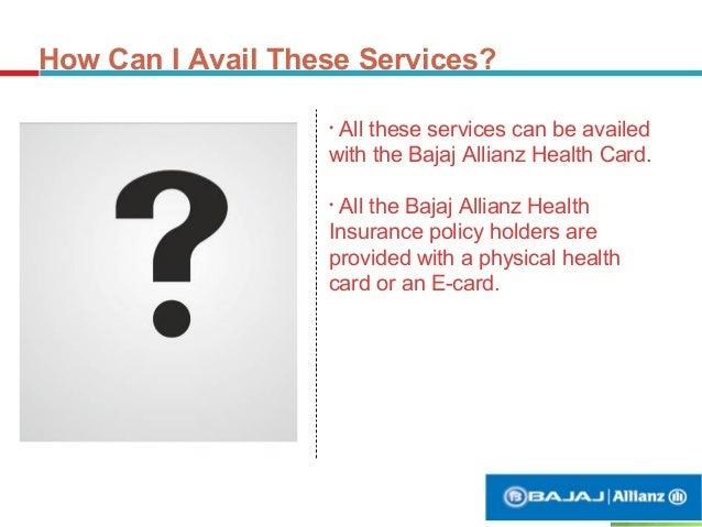 Value Added Services With Bajaj Allianz Health Card