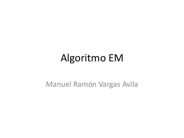 Algoritmo EMManuel Ramón Vargas Avila