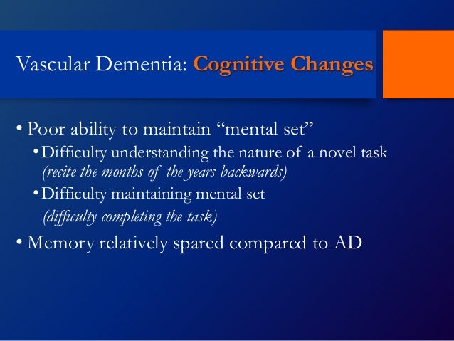 The effects of dementia on cognitive skills