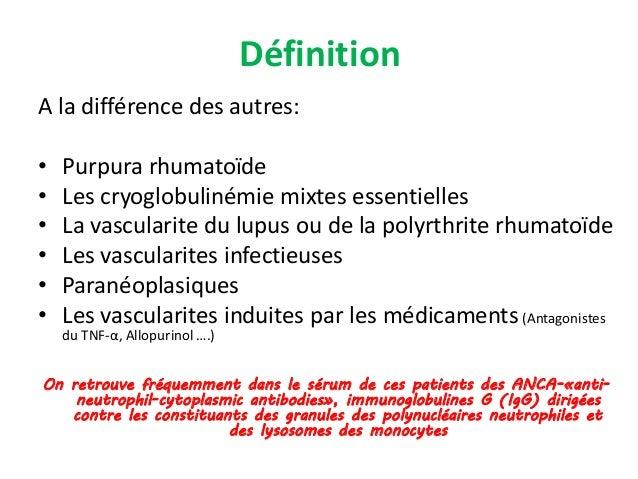Traitement des vascularites à ANCA en 2014