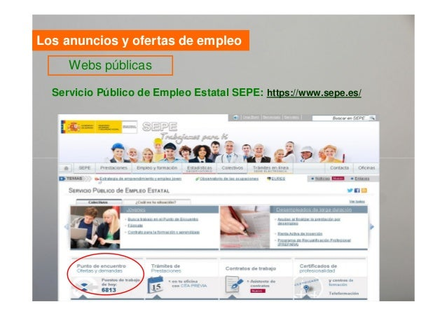 V as de acceso al empleo for Sepe oficina virtual