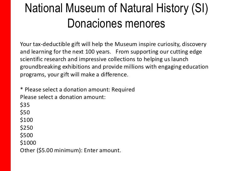 Museum Of Natural History Membership Tax Deductible