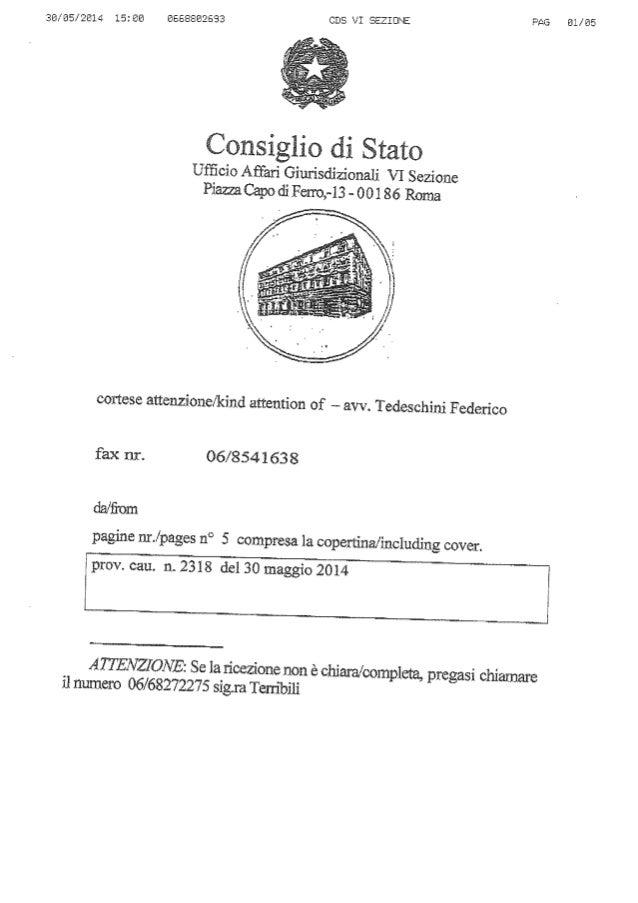 decreto cautelare del Consiglio di stato su Piazza Verdi