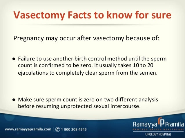 after count vasectomy sperm Positive