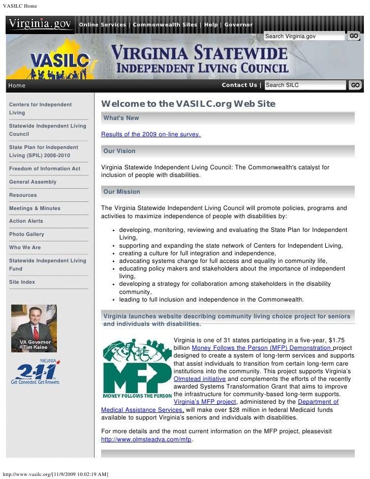 VASILC Home                                Online Services | Commonwealth Sites | Help | Governor                         ...