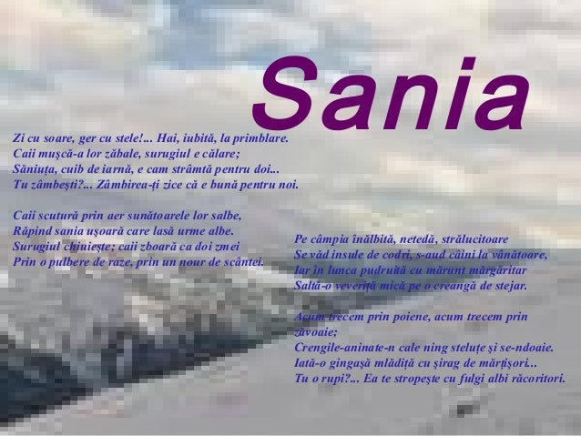Imagini pentru Sania, de V. Alecsandri