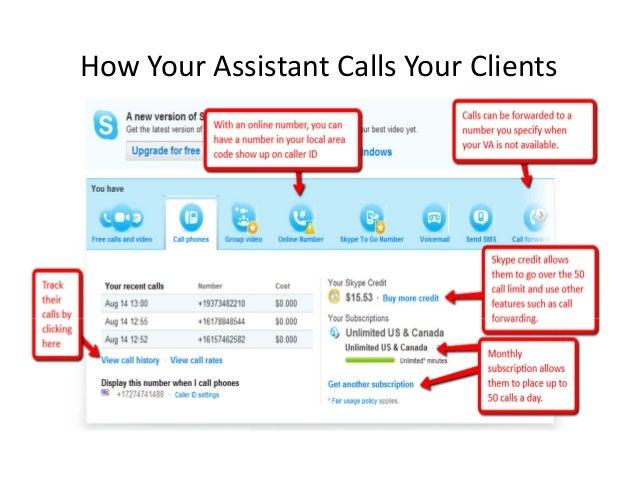 Virtual Assistant Skype Set Up