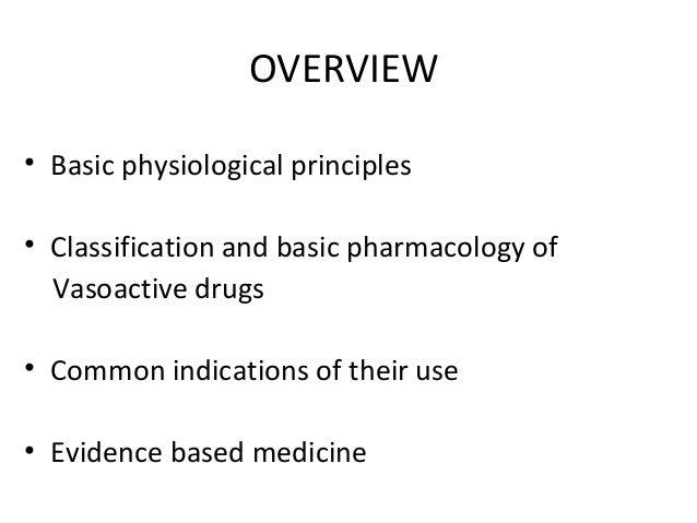 Vasoactve  drugs Slide 2