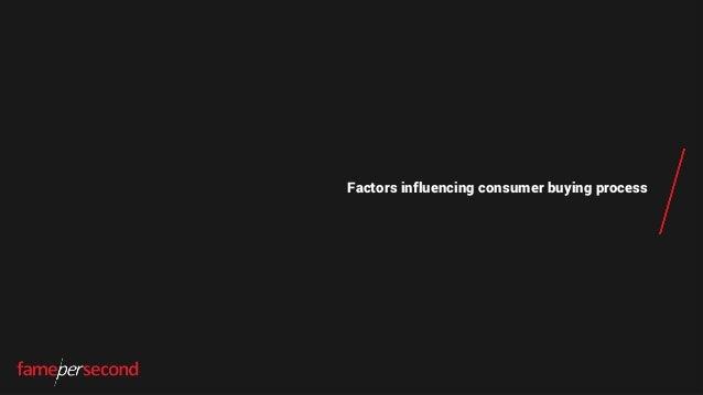 Factors influencing consumer buying process
