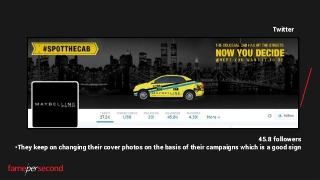 Twitter 45.8 followers •They keep on changing their cover photos on the basis of their campaigns which is a good sign