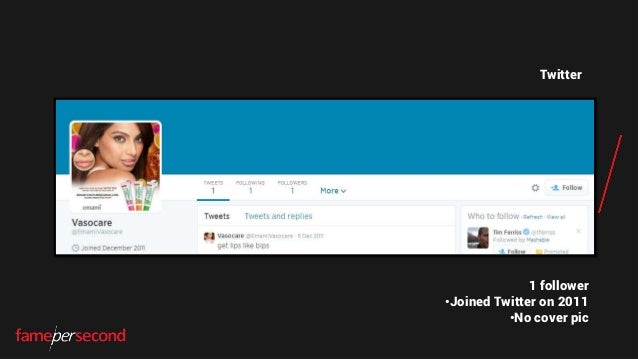 Twitter 1 follower •Joined Twitter on 2011 •No cover pic