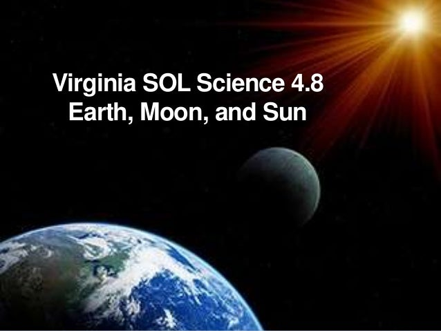 Virginia SOL Science 4.8 Earth, Moon, and Sun