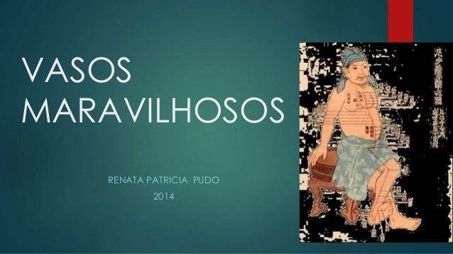 VASOS MARAVILHOSOS RENATA PATRICIA PUDO 2014