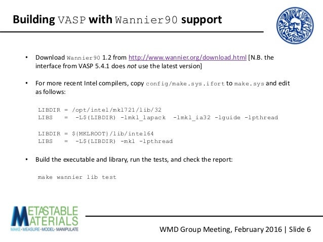 VASP And Wannier90: A Quick Tutorial