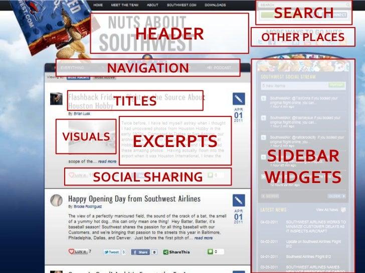 SEARCH<br />HEADER<br />OTHER PLACES<br />SIDEBAR<br />WIDGETS<br />NAVIGATION<br />TITLES<br />EXCERPTS<br />VISUALS<br /...
