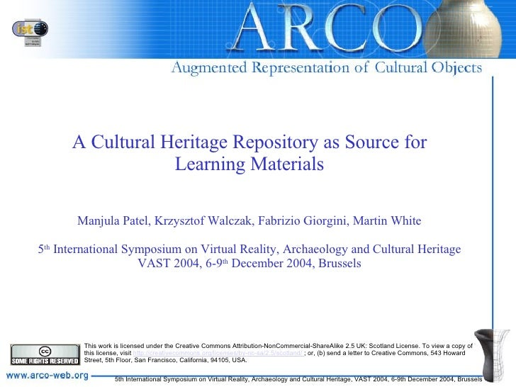 A Cultural Heritage Repository as Source for Learning Materials Manjula Patel, Krzysztof Walczak, Fabrizio Giorgini, Marti...