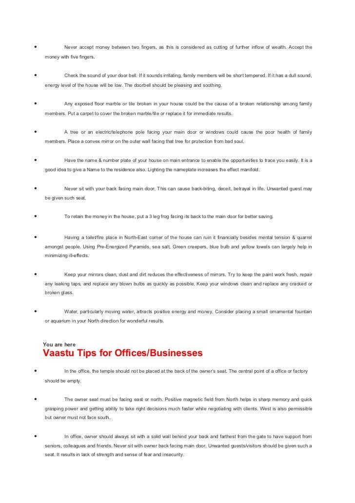 2. Vasthu   21 Vaastu Tips for Homes   19p