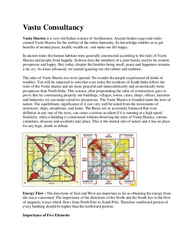 Vastu Consultancy Vastu Shastra is a very old Indian science of Architecture. Ancient Indian sages and rishis created Vast...