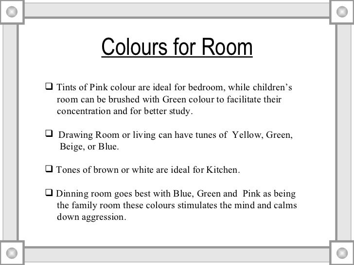 4 Colours For Room