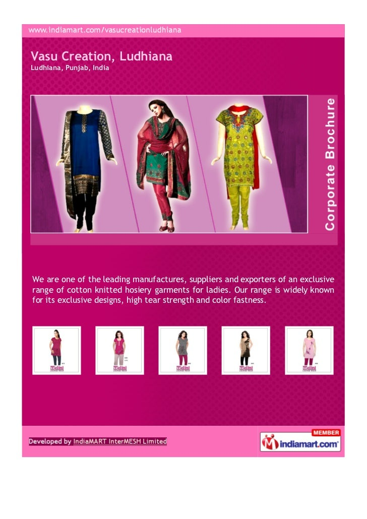 Vasu Creation, LudhianaLudhiana, Punjab, IndiaWe are one of the leading manufactures, suppliers and exporters of an exclus...
