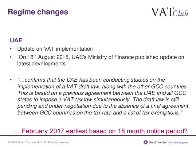 macroeconomic impact of implementation of vat Value added tax (vat) is expected to be introduced at a rate of 5 percent with some limited exceptions including basic food items, healthcare and education.