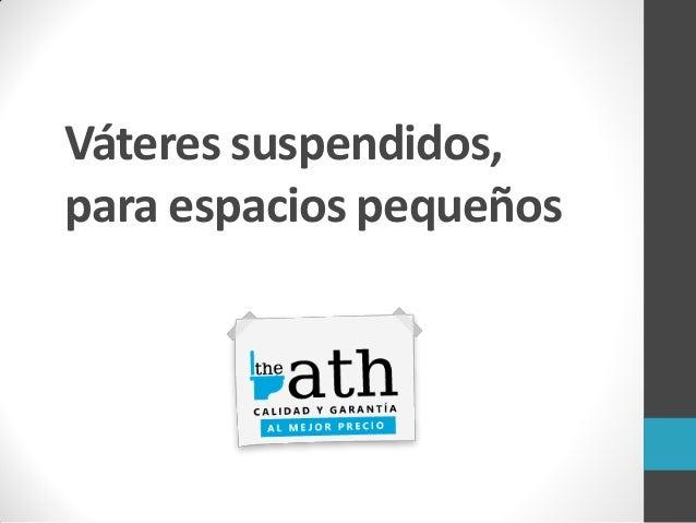 Vateres suspendidos para espacios peque os for Zapateras para espacios pequenos
