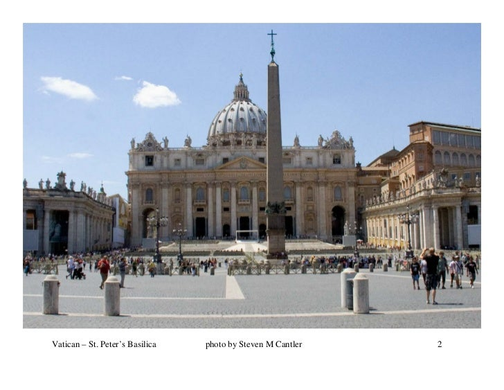 Vatican – St. Peter's Basilica   photo by Steven M Cantler   2