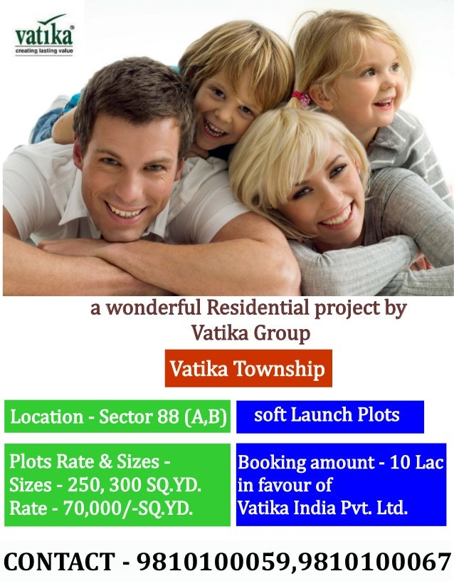 a wonderful Residential project by                   Vatika Group                   Vatika TownshipLocation - Sector 88 (A...