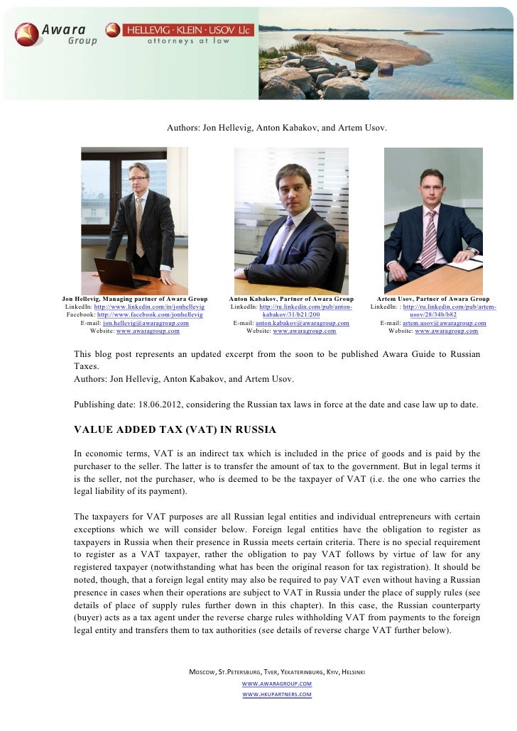 Authors: Jon Hellevig, Anton Kabakov, and Artem Usov.Jon Hellevig, Managing partner of Awara Group          Anton Kabakov,...