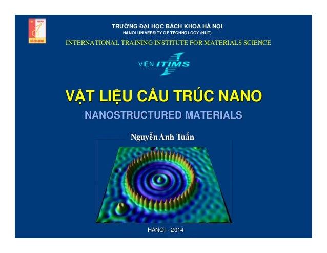 TRƯ NG Đ I H C BÁCH KHOA HÀ N I HANOI UNIVERSITY OF TECHNOLOGY (HUT)  INTERNATIONAL TRAINING INSTITUTE FOR MATERIALS SCIEN...