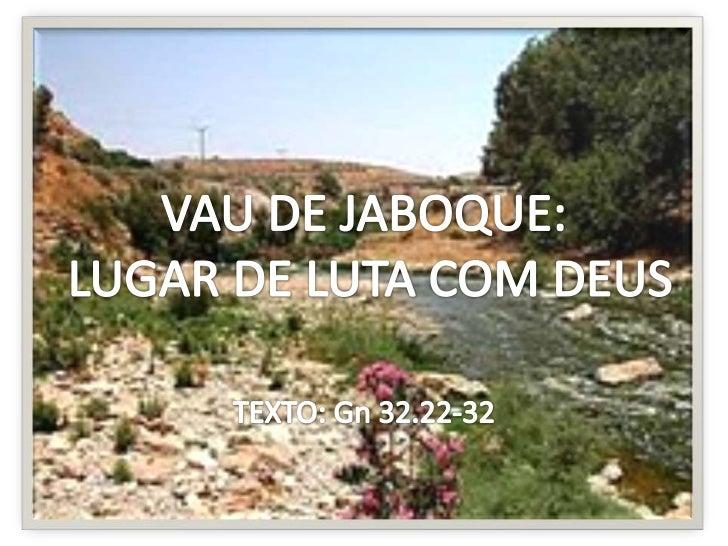 """""""Ficando ele só..."""" Jacó temeu o encontro com seu irmão: """"...fomos a  teu irmão Esaú; também ele vem de caminho para se  ..."""