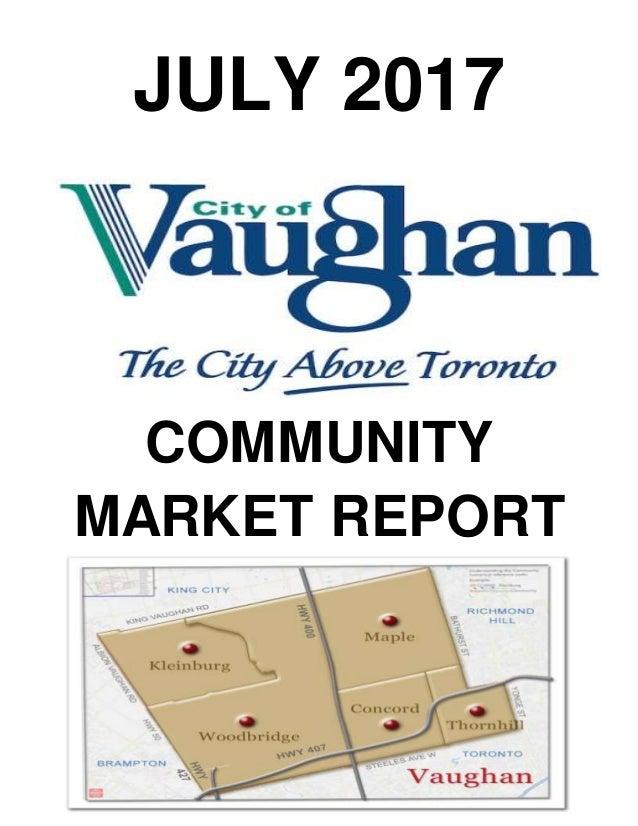 JULY 2017 COMMUNITY MARKET REPORT